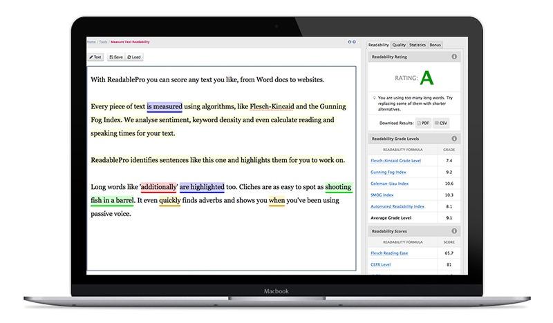 Screenshot of ReadablePro